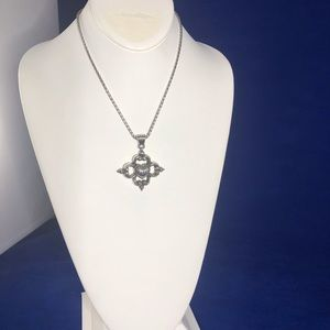 Brighton Silver Tone Reversible Heart Necklace